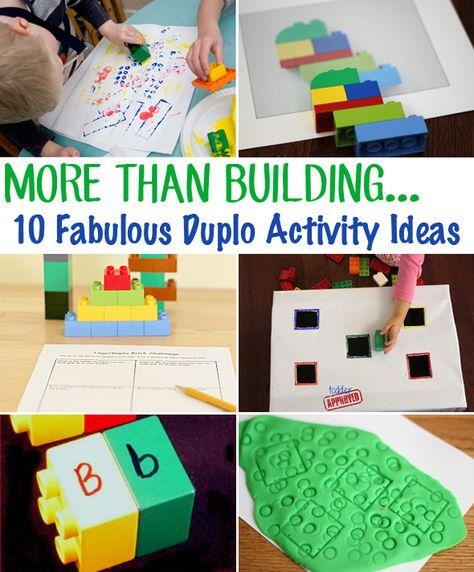 Duplo block activity ideas