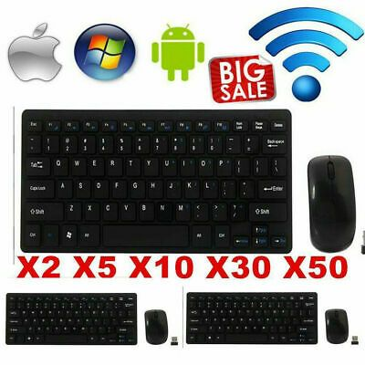 Mini Thin 2.4G Wireless Keyboard and Optical Mouse Combo Kit for Desktop lot rc