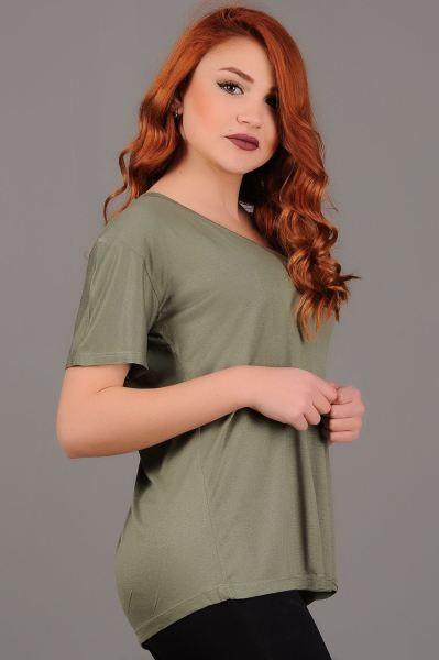 Bayan Tisort Salas V Yaka Haki T Shirt Abiye Stil Modelleri Fashion Gunluk Indirim Erkek Gotik Kislik Kombin Dikis Toptan Kiz V Yaka Stil Giyim