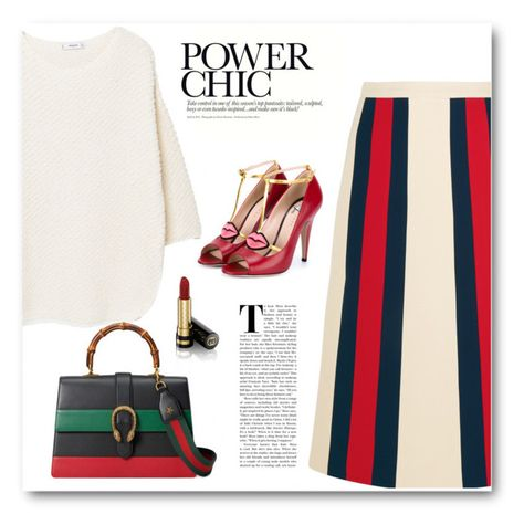 """""""#6262"""" by bliznec ❤ liked on Polyvore featuring Gucci, MANGO, gucci, polyvoreeditorial and polyvorefashion"""