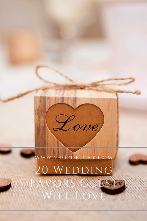 There's nothing as sad as seeing your favors forgotten on the table. To combat that, you can get something unique and useful. Edible items are also a proven hit with guests. Here are 20 wedding favors that we think you can impress your guests with on your wedding day. Check it out! #deluxy #weddinggoals #weddingfavors #gift #weddingsouvenir