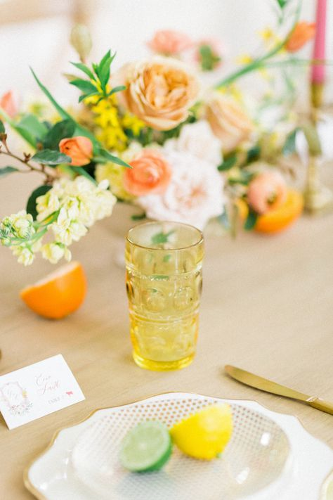 """""""We hope to inspire couples after a year of doom and gloom with how to create a bright, colorful, and fun wedding that loses none of its sophistication or class. Head to SMP for the full gallery!   Photography: @annietimmonsphotography #stylemepretty #weddingtable #tablescape #weddingdecor #weddingreception"""