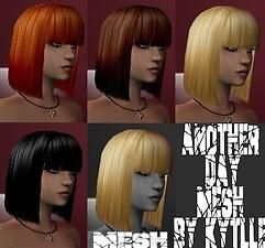 Mod The Sims Another Day New Mesh The Sims 2 Fryzury