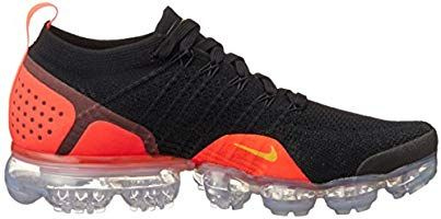 pretty nice 2faf3 8e576 Nike Men's Air Vapormax Flyknit 2, Black/Laser Orange, 9 M ...