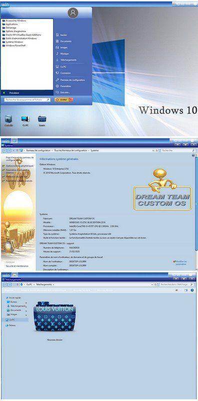 Windows 10 Ltsc Blue Edition 1809 Build 17763 1039 X64 Fr By Dream Team Custom Os Windows 10 Building Dream Team