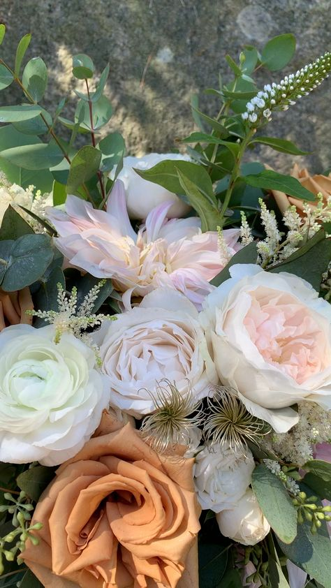 Blush, Ivory and Copper Wedding Flowers Bridal Bouquet