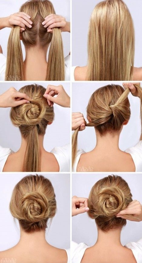 Simple Hair Style At Home Easy Prom Hairstyles To Do At Home Women Inside Most Enchanting Prom Ha Bun Hairstyles For Long Hair Long Hair Styles Easy Hairstyles