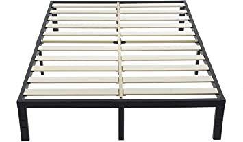 Amazon Com Primasleep 14 Inch Solid Wood Platform Bed Frame Anti Slip Support No Box Sp Wood Platform Bed Frame Platform Bed Designs Coastal Bedroom Furniture