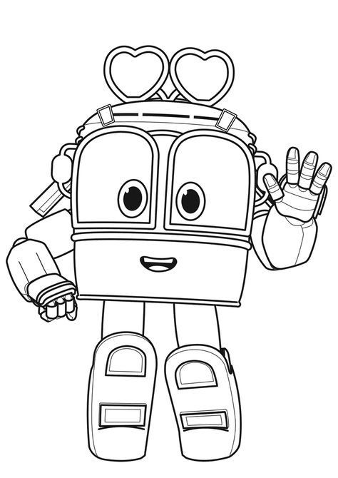 Robot Train Selly High Quality Free Coloring From The Category