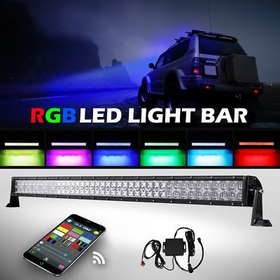 5d 42inch 800w Cree Led Light Bar Multi Color Bluetooth Change Offroad Truck 50 Cree Led Light Bar Bar Lighting Rgb Led Lights