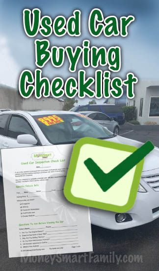 Used Car Buying Checklist >> Used Car Buying Checklist 7 Things To Do When Buying From A