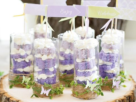 Dreamy Lavender Woodland Fairy Party: Beautiful Treat Display