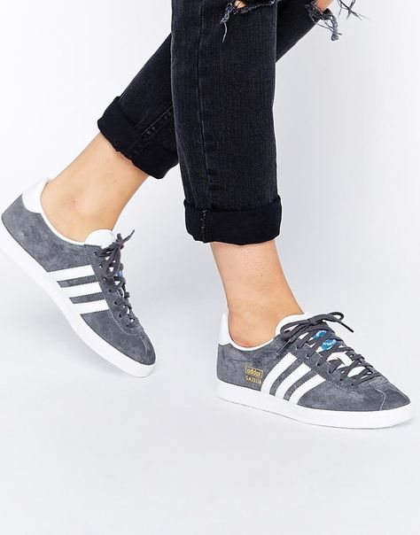 Exclusivo Piscina Pórtico  Adidas | Adidas Originals Gazelle Gray Sneakers at ASOS | Adidas gazelle,  Sneakers fashion, Adidas gazelle women