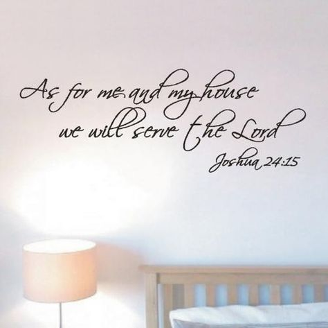 Decal Religious Wall Art Sticker Mural As For Me and My House..