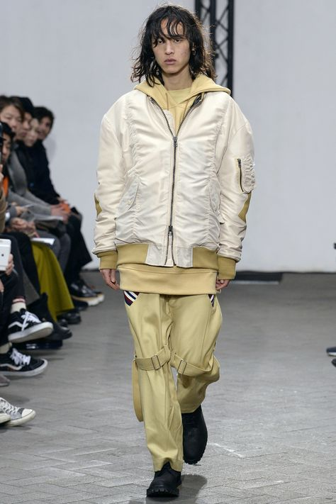 belt and loop on knee. Facetasm Fall 2017 Menswear collection.