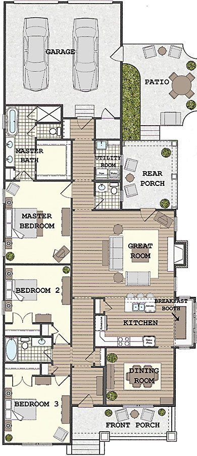 Fountain Circle 2 Coastal House Plans From Coastal Home Plans Narrow House Plans Southern Living House Plans Narrow House