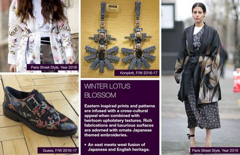 Trendstop fw trends on women's theme: winter lotus blossom