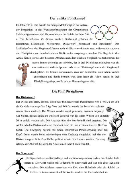 Olympische Spiele Im Antiken Griechenland Unterrichtsmaterial Im Fach Geschichte Olympische Spiele Antikes Griechenland Antike Olympische Spiele
