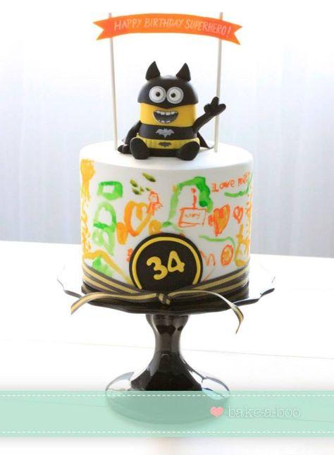Minion / Batman Cake dream come true!!? My 2 favourite things!