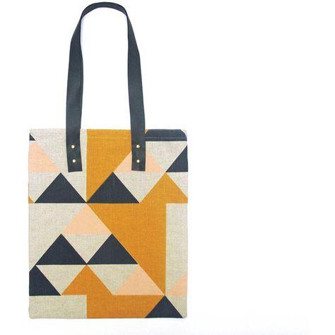 Aztec Tote Bag: Large (350 BRL) ❤ liked on Polyvore featuring bags, handbags, tote bags, aztec tote, aztec purse, white tote bag, aztec handbag and tote bag purse