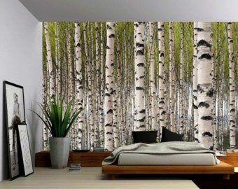 Herbst Baum Wald See Grosse Wandbild Selbstklebende Vinyl Tapeten Wandverkleidung Stoff Wandtattoo Wohnen Wohnung Dekoration Und Dekor