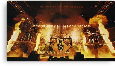Alive Ii 3 Canvas Print By Oonchelog Kiss Album Covers Kiss