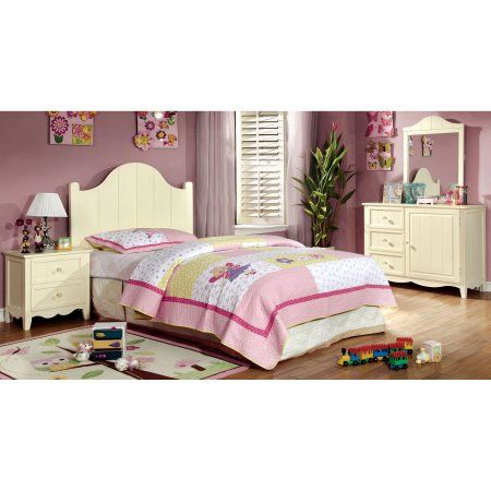 Furniture Of America Lissiana 4 Piece Twin Size Bedroom Set Kidsbedroomfurniture Cream Bedroom Furniture Bedroom Collection Kids Bedroom Sets