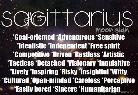 astrology sagittarius moon