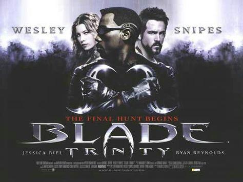 Blade Trinity quad movie poster | Blade movie, Blade film