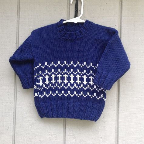 QUALITY Knitted sweater baby boy blue newborn 0-1 month handmade in France