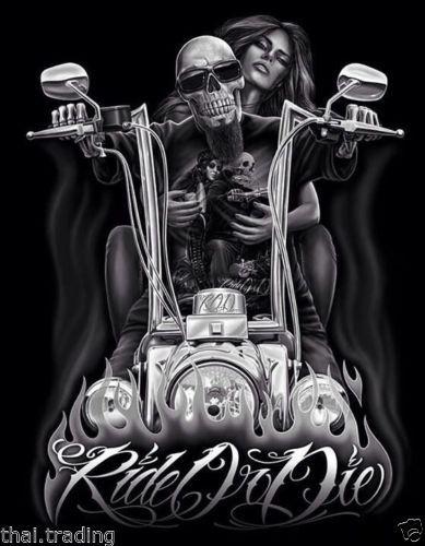 Vintage Harley Davidson Skull And Girl Art Photo Fridge Magnet 2