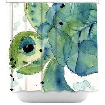 Suren Nersisyan Baby Sea Turtles 3 Single Shower Curtain Sea Turtle Painting Turtle Art Sea Turtle Art