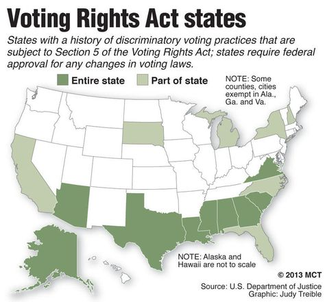 Voting Rights Infographics Maps Illustrations
