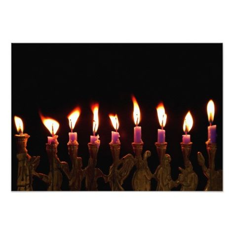 Hanukkah Chanukah Hanukah Menorah Burning Candles Invitation
