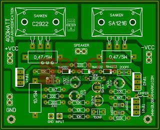 Cara Modif Power Amplifire Safari 400watt Menjadi Low Sub Rangkaian Elektronik Elektronik