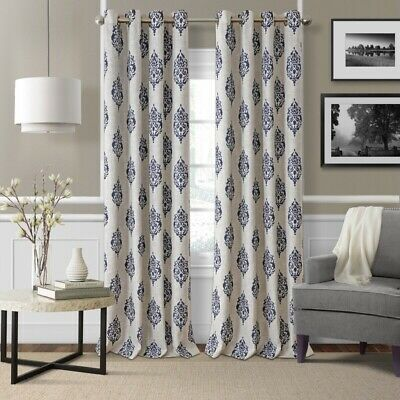 5 Brand New Navy And Beige Drapes Curtains 48x95 In 2020 Panel Curtains Elrene Home Fashions Cool Curtains