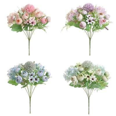 4pcs 31cm Artificial Flower Bouquet Bridal Wedding Bouquet For Wedding Bridal Bouquet Flowers Diy Floral Decor Silk Flower Bouquets