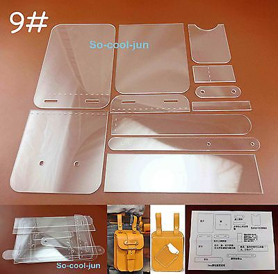 One Set Acrylic Bag Stencil Tool. Amazing designed stencil for short wallet. designer can understand and use them to work at once.