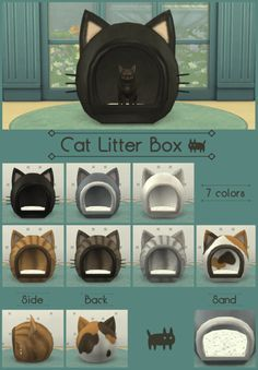 Cat Litter Box For The Sims 4 Sims Pets Sims 4 Pets Sims 4