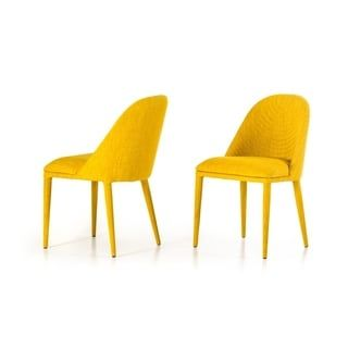Overstock Com Online Shopping Bedding Furniture Electronics Jewelry Clothing More Modern Fabric Dining Chairs Yellow Dining Chairs Dining Chairs