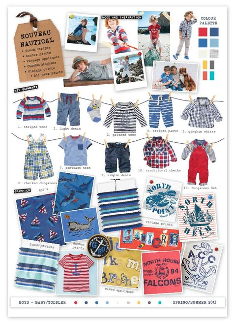 Baby boy fashion, looks like Nouveau Nautical - Spring/Summer 2013  is the trend.