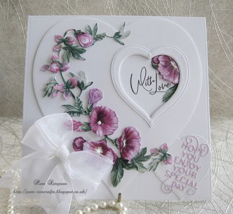 """Hello everyone.. Sharing my Tattered Lace DT Samples.. """"Botanical Bliss"""" will be launching on Create and Craft TV Tomorrow 7.00 pm.. ..."""