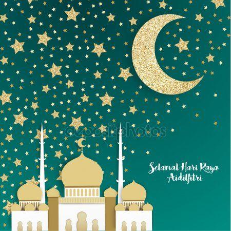 Selamat Hari Raya Aidilfitri Dari Kami Sekeluarga Mohon Maaf Atas Salah Dan Silap Selama Ini Wallpaper Ramadhan Selamat Hari Raya Eid Greeting Cards