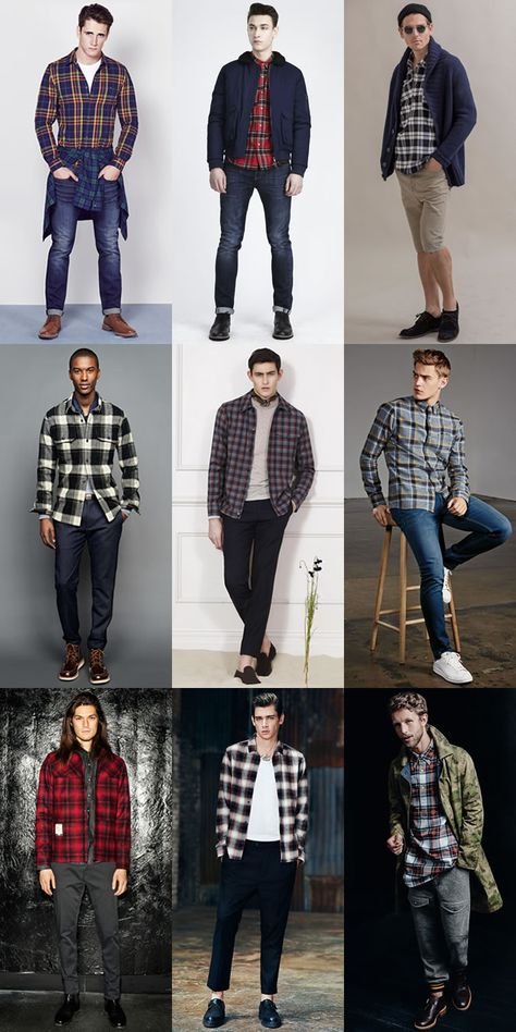 Men'S modern alternative to vintage classics: plaid/check flannel
