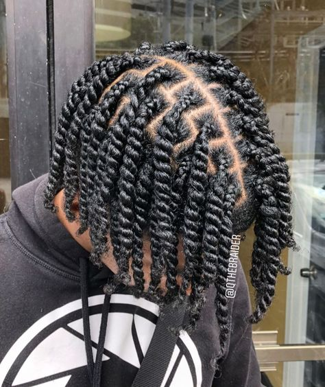 """QTheBraider on Instagram: """"TAG YOUR MAN CRUSH ! 🌀Double Strand Twists ➖ 📆BOOK: www.qthebraider.as.me ➖ #doublestrandtwist #doublestrandtwists #twistout #twists…"""""""