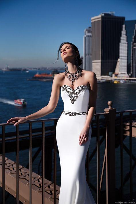 Noir et blanc, le mix parfait ! #mariage #bride #wedding #pollardi #fashion #sirène #mode #tendance #style #robe