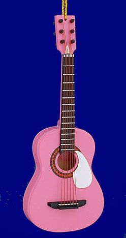Mini Acoustic Guitar Ornament Wood 5 7 8 Pink Bg5286 Pink Guitar Guitar Guitar Diy
