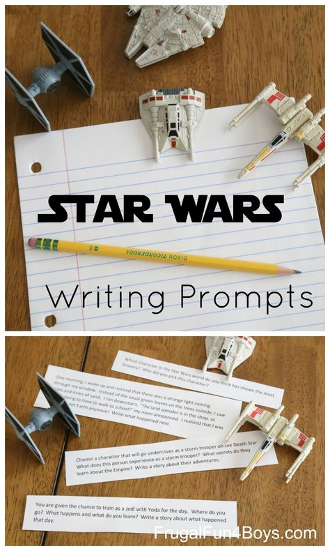 Printable Star Wars Writing Prompts - Frugal Fun For Boys and Girls