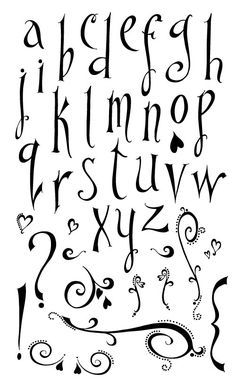 Pin by Sandy Jensen on Handwriting | Lettering, Hand lettering fonts