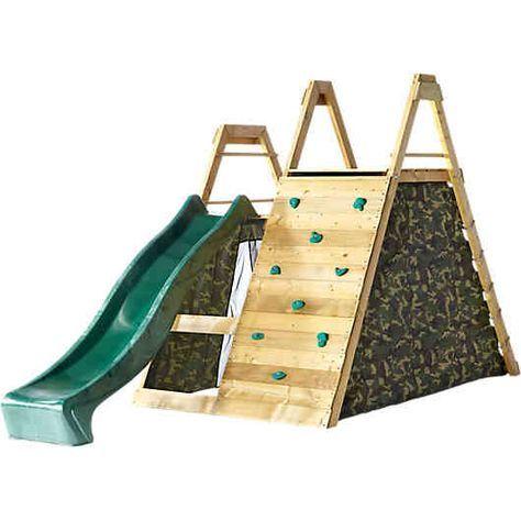Mit Diesem Spielplatz Haben Die Kinder Stundenlangen Spass Im Freien Klettergerust Beinhaltet Grosse Do Spielturm Selber Bauen Spielplatz Kinder Klettergerust